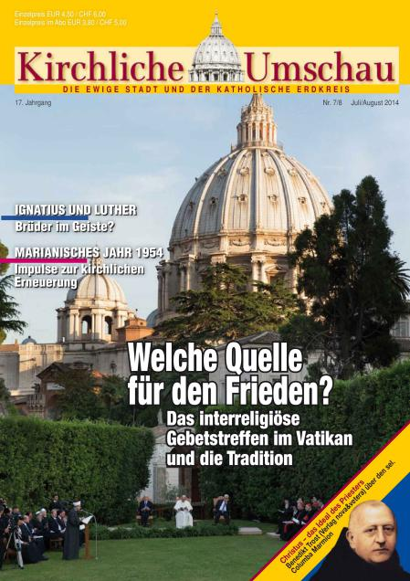 Cover der Kirchlichen Umschau Juli / August 2014