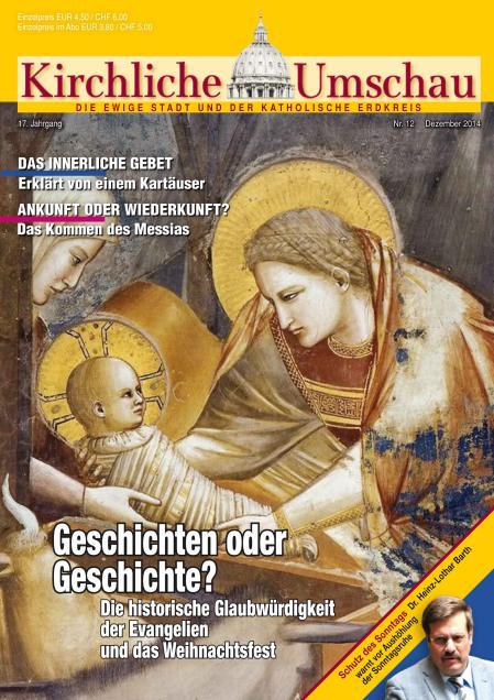 Cover der Kirchlichen Umschau Dezember 2014